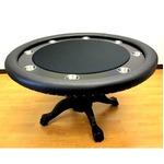 ROUND(ラウンド)ポーカーテーブルII -ブラック (ダイニグカバー付き)