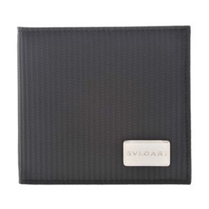 BVLGARI(ブルガリ) 25541 BLACK 二つ折り財布(小銭入れ付)