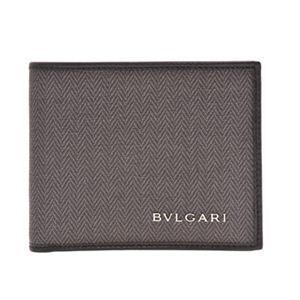BVLGARI(ブルガリ) 32580 BLACK 二つ折り財布(小銭入れ無)