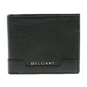 BVLGARI(ブルガリ) 33401 BLACK 二つ折り財布(小銭入れ無)