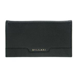 BVLGARI(ブルガリ) 33402 BLACK 長札(ファスナー付)