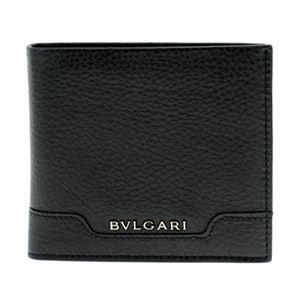 BVLGARI(ブルガリ) 33403 BLACK 二つ折り財布(小銭入れ付)
