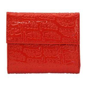 Folli Follie(フォリフォリ) WA0L027SR RED 三つ折り財布