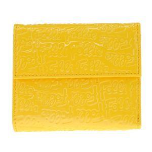 Folli Follie(フォリフォリ) WA0L027SY YELLOW 三つ折り財布