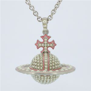 Vivienne Westwood(ヴィヴィアンウエストウッド) PEARLY QUEEN 3D SMALL ORB P SS PEWTER ネックレス 【ブランド箱入り】 - 拡大画像