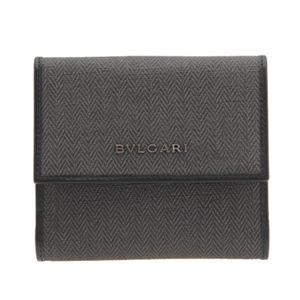 BVLGARI(ブルガリ) 32586 BLACK ダブルホック財布