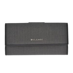 BVLGARI(ブルガリ) 32589 BLACK 長札(小銭入れ付)