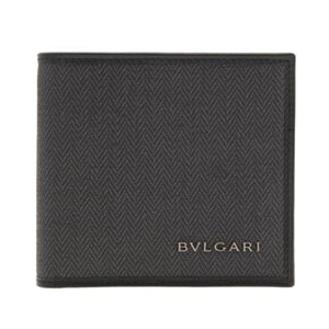 BVLGARI(ブルガリ) 32581 BLACK 二つ折り財布(小銭入れ付)