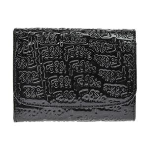 FOLLI FOLLIE(フォリフォリ) WA0L026SK BLACK 二つ折り財布