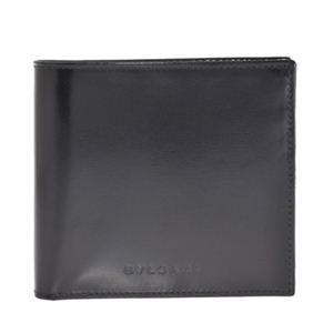 Bvlgari(ブルガリ) EX20064 BLACK 二つ折り財布(小銭入れ付)【ブランド箱入り】 - 拡大画像