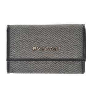 【訳あり・在庫処分】BVLGARI(ブルガリ) 32583 BLACK 6連キーケース 【ブランド箱入り】 h01