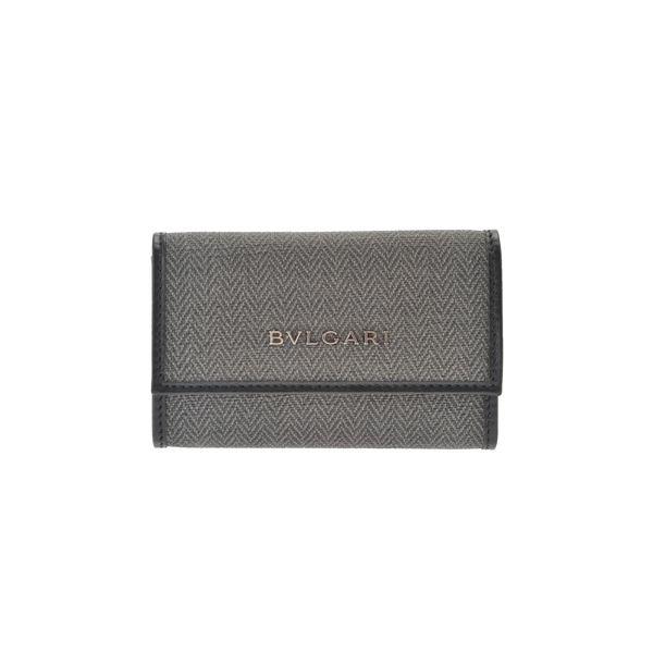 【訳あり・在庫処分】BVLGARI(ブルガリ) 32583 BLACK 6連キーケース 【ブランド箱入り】f00
