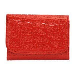Folli Follie(フォリフォリ) WA0L026SR RED 二つ折り財布 - 拡大画像