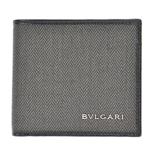 BVLGARI(ブルガリ) 32581 CANVAS/BLK 二つ折り財布 - 拡大画像