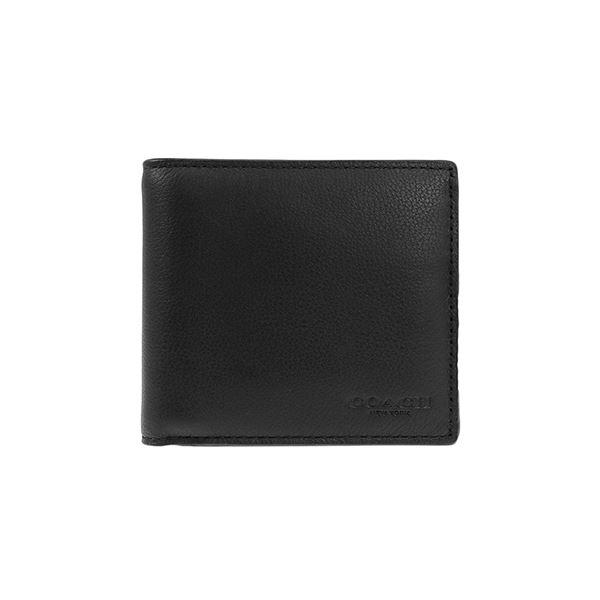 Coach (コーチ) F75003/BLK/1 二つ折り財布f00