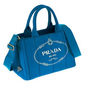Prada (プラダ) 1BG439 CANAPA/AZZURRO 手提げバッグ h01