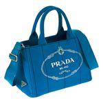 Prada (プラダ) 1BG439 CANAPA/AZZURRO 手提げバッグ