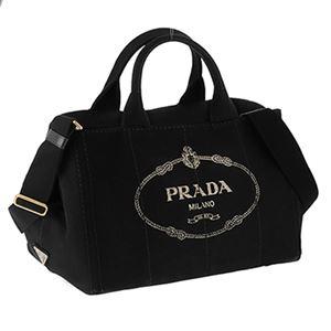 Prada (プラダ) 1BG642 CANAPA/NER 手提げバッグ - 拡大画像