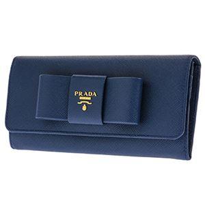 Prada (プラダ) 1MH132 S/FIOCCO/BLUETTE 長財布