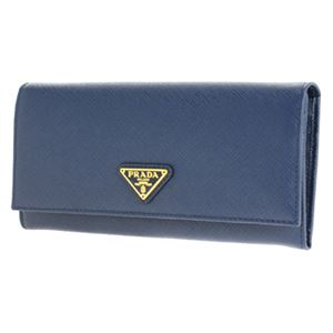Prada (プラダ) 1MH132 S/TRIANG/BLUETTE 長財布