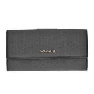 Bvlgari(ブルガリ) 32589 CANVAS/BLK 長財布 h01