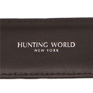 HUNTING WORLD(ハンティングワールド) 2125-C31 BELTS/BK/BR ベルト 全長 125cm長さ調節 105~115cm