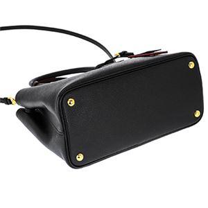 Prada (プラダ) 1BG887 S/CUIR/NER/FUOCO 手提げバッグ h03