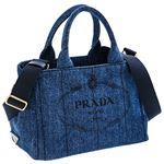 Prada (プラダ) 1BG439 DENIM/BLEU 手提げバッグ