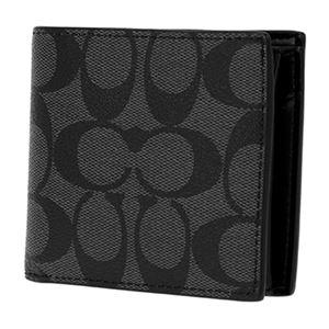Coach (コーチ) F75006/CQ/BK/1 二つ折り財布