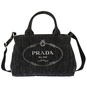 Prada (プラダ) 1BG439 DENIM/NER 手提げバッグ