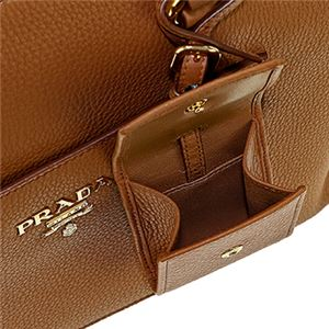Prada (プラダ) 1BA063 V/DAI/CARAMEL 手提げバッグ f05