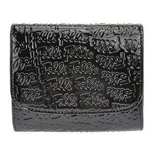 FOLLI FOLLIE (フォリフォリ) WA0L026SK/BLK 二つ折り財布
