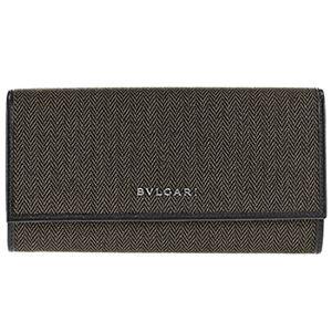 Bvlgari (ブルガリ) 32585 CANVAS/BLK 長財布