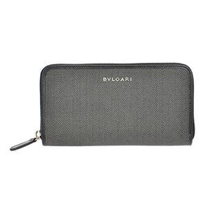 Bvlgari (ブルガリ) 32587 CANVAS/BLK 長財布