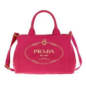Prada (プラダ) 1BG439 CANAPA/FUXIA 手提げバッグ