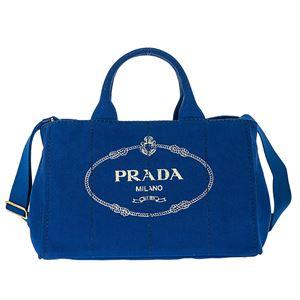 Prada (プラダ) 1BG642 CANAPA/COBALTO 手提げバッグ