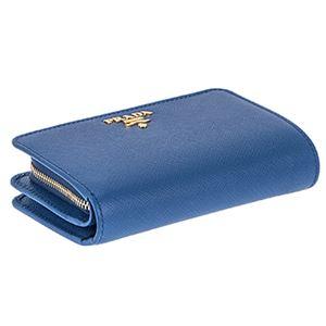 Prada (プラダ) 1ML225 S/ME/AZZURRO 二つ折り財布