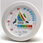 環境管理温・湿度計「熱中症注意」 TM-2482 直径23cm壁掛けタイプ