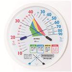 環境管理温・湿度計「熱中症注意」 TM-2485 直径16.2cm壁掛けタイプ