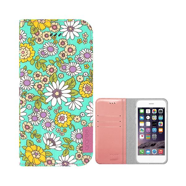 iPhone6s Plus/6 Plus ケース araree Blossom Diary (ブロッサムダイアリー インディー) アイフォン(mint)f00