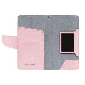 多機種対応スマートフォンマルチケース HANSMARE CALF Diary(ハンスマレ カーフダイアリー)(Wine Pink) h02