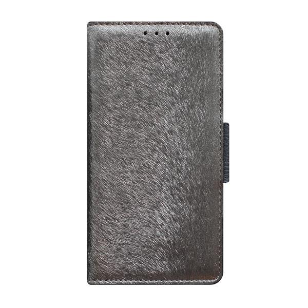 多機種対応スマートフォンマルチケース HANSMARE CALF Diary(ハンスマレ カーフダイアリー)(Metal Black)f00
