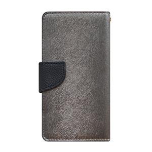 多機種対応スマートフォンマルチケース HANSMARE CALF Diary(ハンスマレ カーフダイアリー)(Metal Black) h02