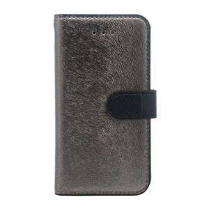 iPhone SE ケース HANSMARE CALF Diary (ハンスマレ カーフダイアリー) アイフォンse/5s/5用 iPhone SE/5s/5(metal black) h01