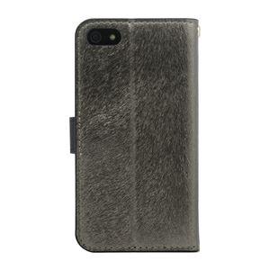 iPhone SE ケース HANSMARE CALF Diary (ハンスマレ カーフダイアリー) アイフォンse/5s/5用 iPhone SE/5s/5(metal black) h02