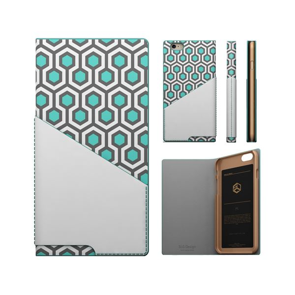 iPhone6s/6 ケース SLG Design D0 Combi Calf Skin Artificial Leather Diary(エスエルジ―デザイン D0 コンビ カーフスキンアーティフィシャルレザーダイアリー)アイフォン( rime)f00