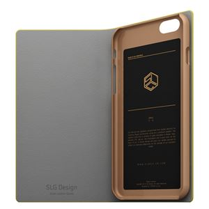 iPhone6s/6 ケース SLG Design D0 Combi Calf Skin Artificial Leather Diary(エスエルジ―デザイン D0 コンビ カーフスキンアーティフィシャルレザーダイアリー)アイフォン( yellow) h03