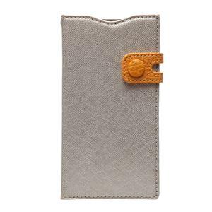 docomo 【Xperia A2/Xperia Z1f】ZENUS Prestige Color Edge Diary (プレステージカラーエッジダイアリー) スナップボタン サフィアーノ革(lightgold) h01