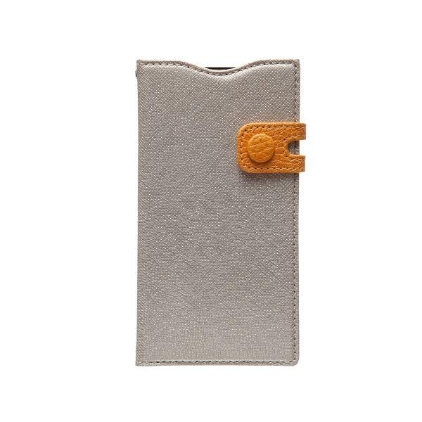 docomo 【Xperia A2/Xperia Z1f】ZENUS Prestige Color Edge Diary (プレステージカラーエッジダイアリー) スナップボタン サフィアーノ革(lightgold)f00
