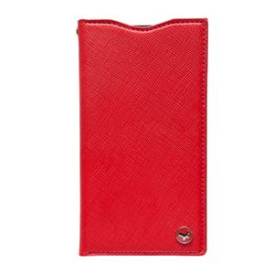 docomo 【Xperia A2/Xperia Z1f】ZENUS Prestige Minimal Diary (プレステージミニマルダイアリー) ボタンなし サフィアーノ革(red) h01